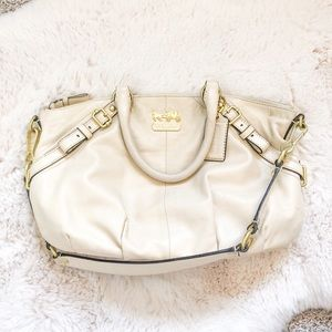 Leather Cream Coach Purse